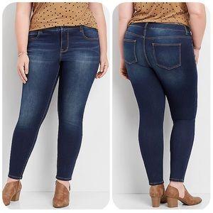 Maurices Dark Wash Super Soft Stretch Skinny Jeans